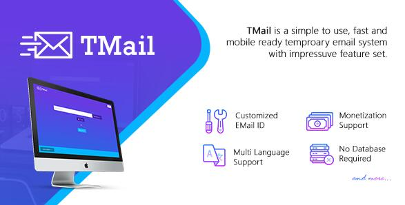 TMail v6.5 - 支持多域名临时邮箱系统PHP源码