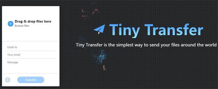 类型于wetransfer的文件共享源码——TinyTransfer v1.1.5